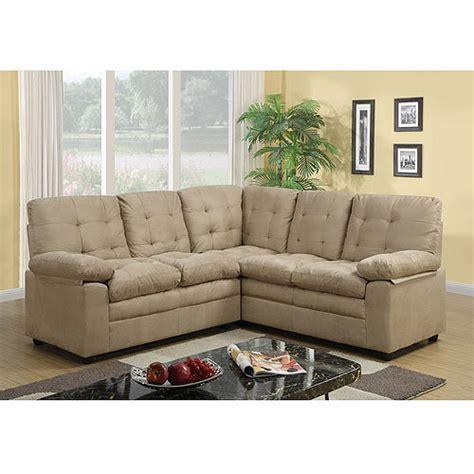 buchannan microfiber corner sectional sofa taupe walmart com