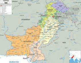 Pakistan Map - Political Map of Pakistan Pakistan