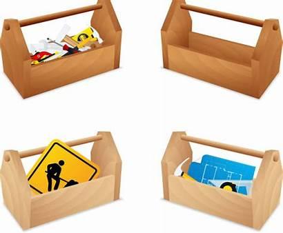 Tool Box Toolbox Wooden Vector Clip Illustrations
