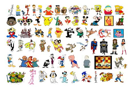 All Cartoon Characters Names