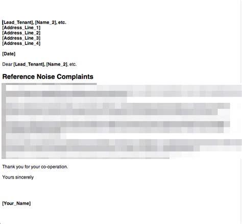 anti social behaviour noise complaint letter  grl
