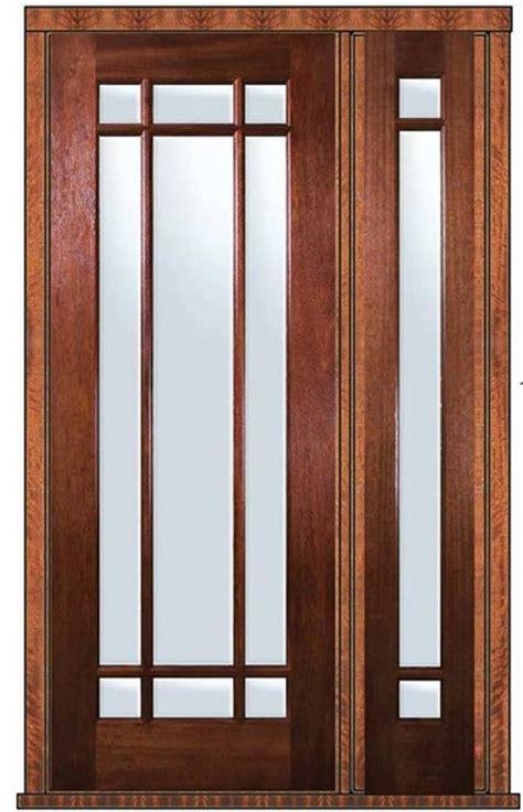 prehung side light door 96 mahogany 9 lite marginal