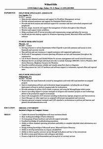 Help Desk Specialist Resume Samples