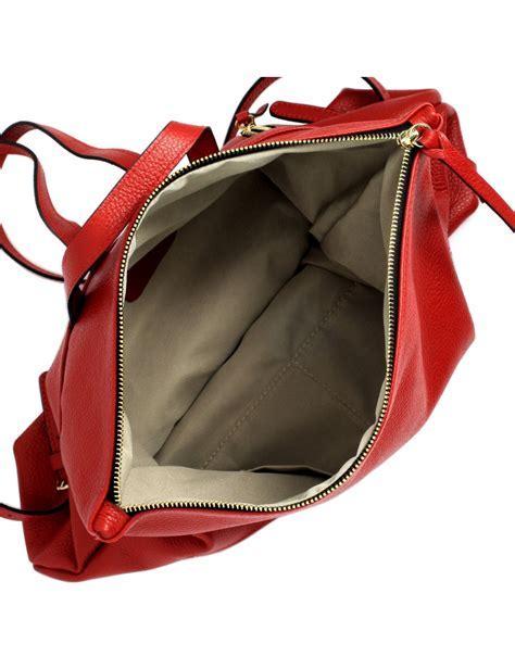 Rucksack aus Echtem Leder für Damen   Lau