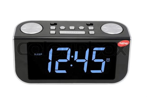 Modern Compact Digital Electronic Clock From Radio. It Is