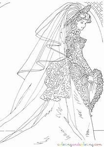 Portrait Of Barbie And Kens Wedding Coloring Page - Barbie ...
