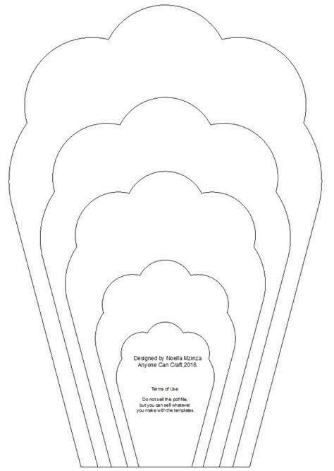 free paper flower templates large flower petals anyone can craft