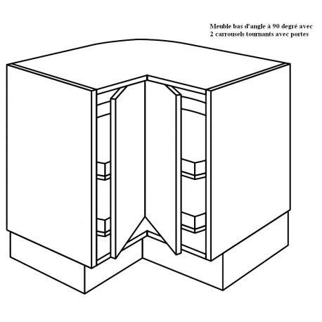 cuisine schroder meuble d 39 angle à 2 plateaux tournants à 90 degrée