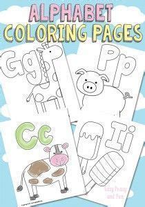 printable alphabet coloring pages  images