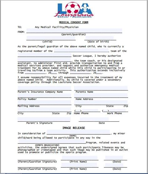notarized medical release form sle medical consent form printable medical forms