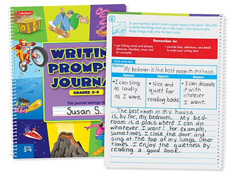 writing prompts journal gr 3 4 at lakeshore learning