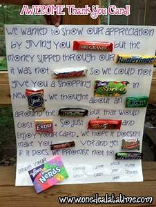 """Awesome Candy """"Thank You"""" Card - Father's Day Gift Idea ..."""