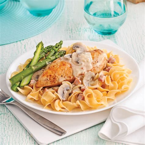 cuisines et vins de recettes poitrines de poulet au vin blanc et chignons recettes