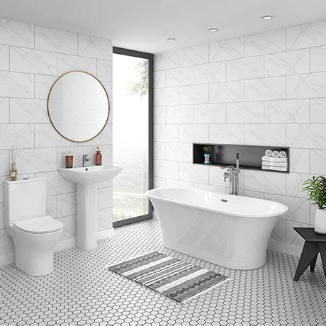Design A Bathroom For Free by Alps Modern Free Standing Bathroom Suite