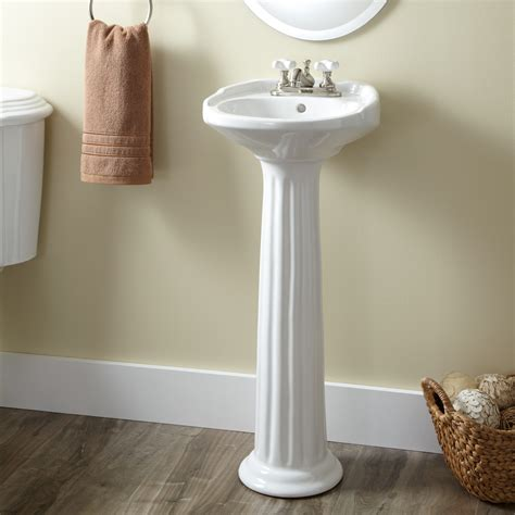 Pedestal Sink For Small Bathroom by Ultra Porcelain Pedestal Sink Bathroom