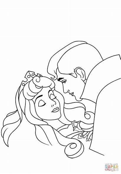 Coloring Aurora Kisses Pages Phillip Printable Anime