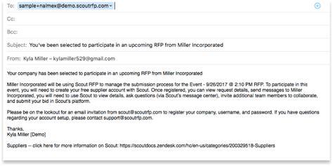 Rfp Invitation Email