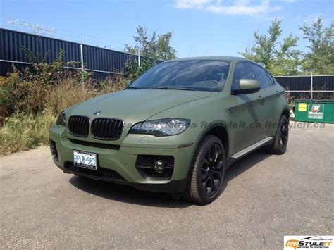 matte green matte military green bmw x6 vehicle customization shop
