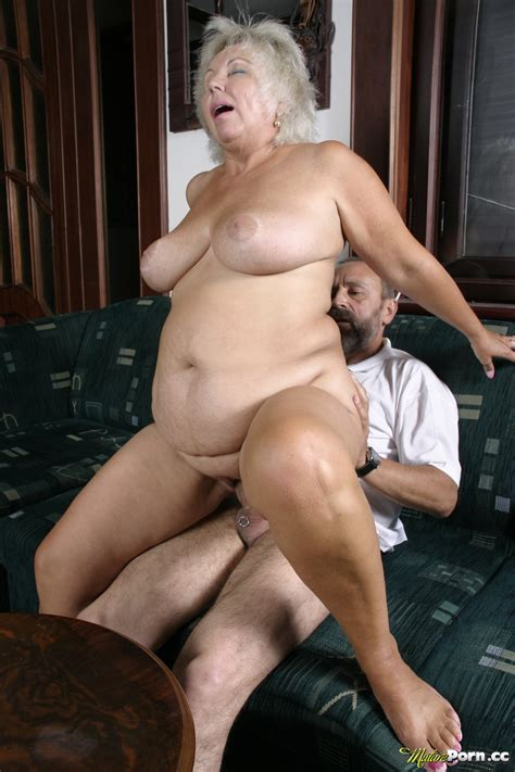 Fair Haired Granny Is Pounded On The Couch Granny Seduction