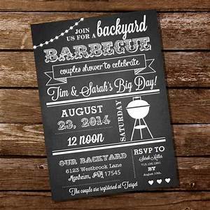chalkboard couples shower bbq invitation couples shower With couples wedding shower menu ideas