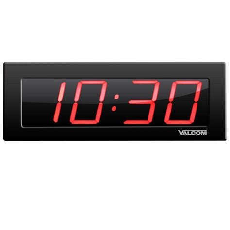 la crosse technology atomic clock with temperature digital wall clock