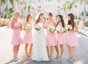 pink bridesmaids dresses a pink theme wedding for your special day