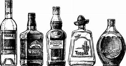 Bottle Drawing Bottles Draw Whiskey Hands Tequila