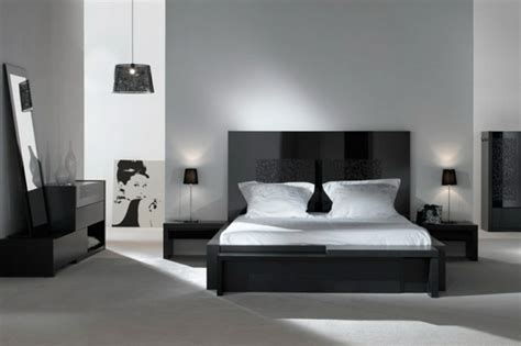 déco noir et blanc chambre à coucher 25 exemples élégants