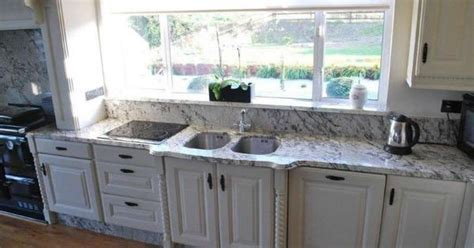 ICE BLUE granite installed   Small, full bath ideas