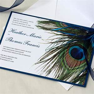 Peacock wedding invitation feather wedding peacock feather for Peacock wedding invitations with photo