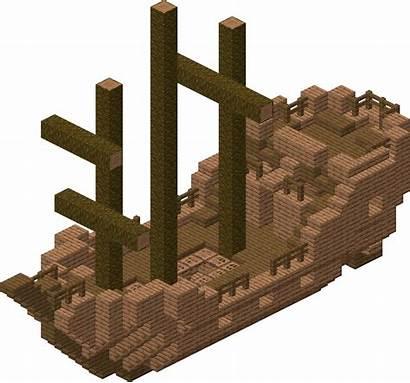 Minecraft Shipwreck Ship Sunken Statku Wrak Transparent