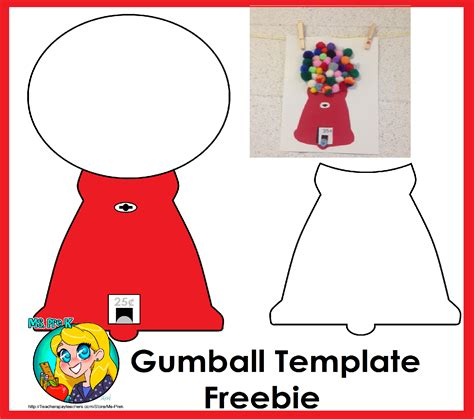 gumball machine template freebie template to create this gumball machine shows steps on how to use this template