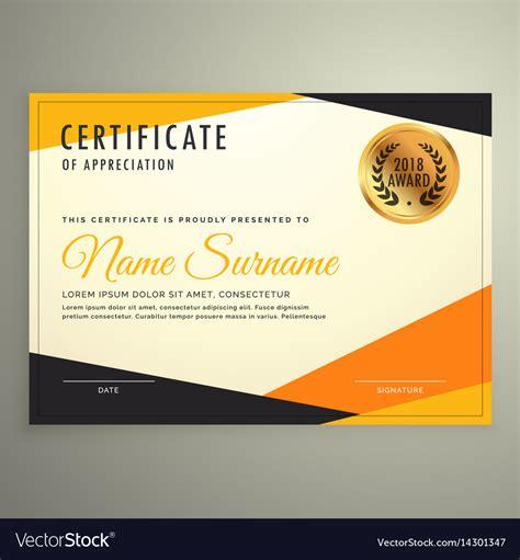 certificates design template resumete