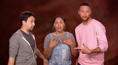 lin manuel miranda swimsuit stephen curry ayesha curry perform with lin manuel