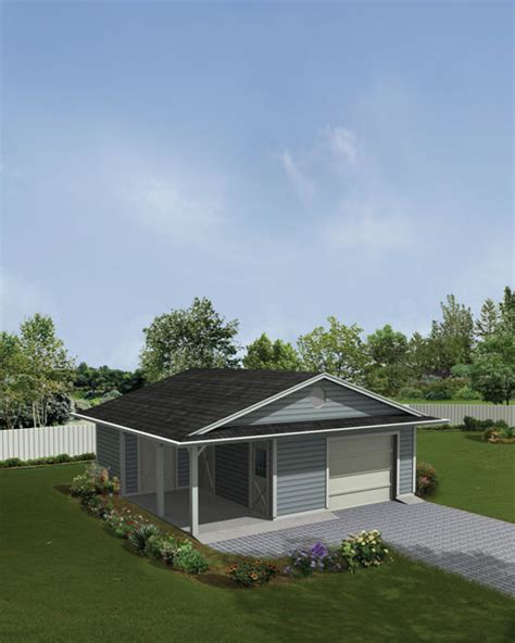 Garage Plans With Porch by Earth Living 1 Car Garage With Storage And Porch