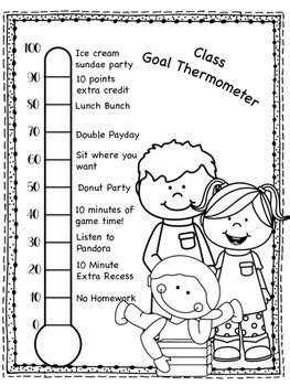 class thermometer goal sheet  masterpieces  molly tpt