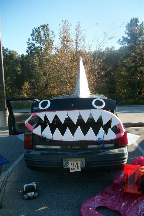 award winning shark decorated car  trunk  treat