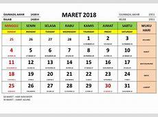 Maret 2018 kalender indonesia 4 2019 2018 Calendar