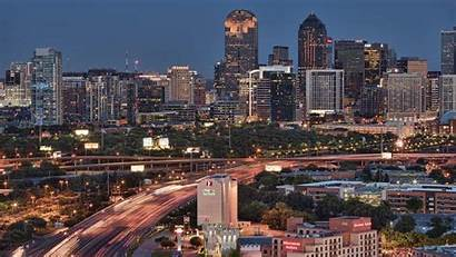 Dallas Skyline Houston Tx Texas Wallpapers Twilight