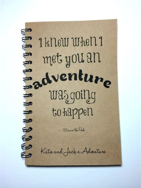 adventure notebook winnie  pooh quote adventure book