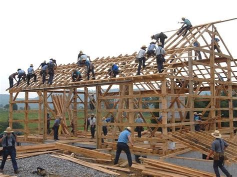 Amish Barn Raising by The Amish 10 Things You Might Not