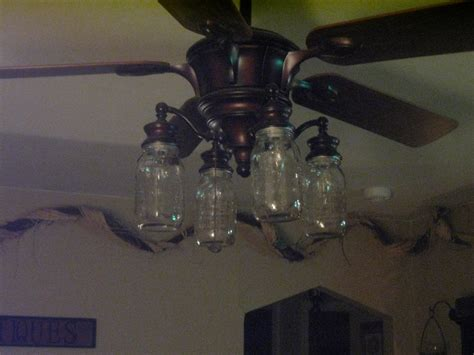 ceiling fan with mason jar lights mason jars for your ceiling fans too for the home