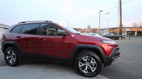 jeep cherokee trailhawk red 2014 jeep cherokee trailhawk cherry red ew188872 mt