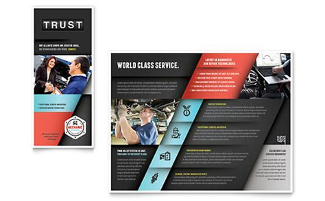 automotive transportation brochures flyers word