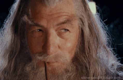 Gandalf And Bilbo Smoking