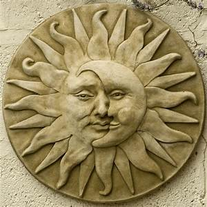 Garden plaque sun moon face | Flickr - Photo Sharing!