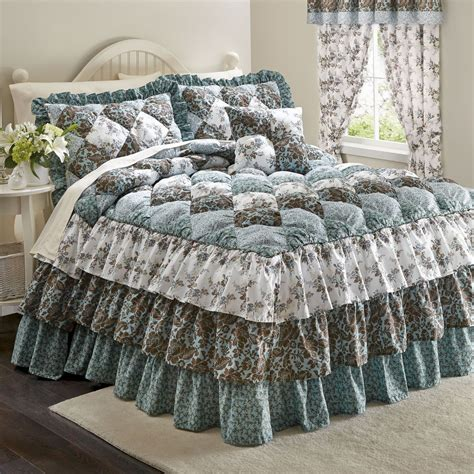 puff bedspreads puff top printed bedspread more bedding