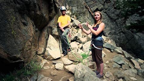 Rock Climbing Basics Belaying The Leader Youtube