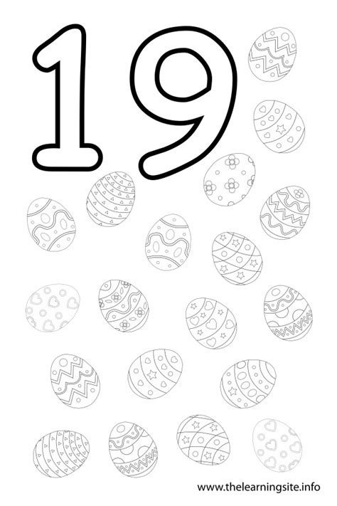 number 19 coloring page getcoloringpages