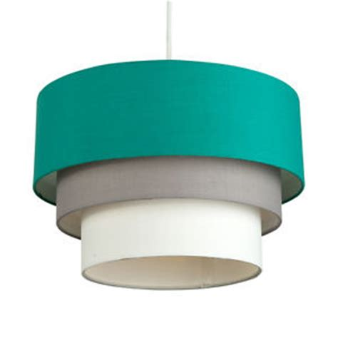 teal and white l shade modern 3 tiered teal grey and white non electric ceiling